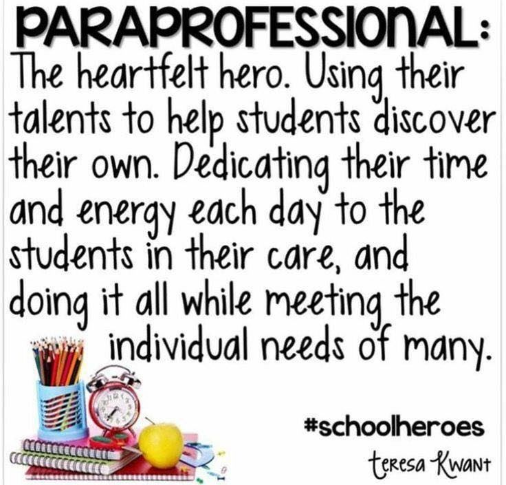 Paraprofessional Recognition Week January 22,2018